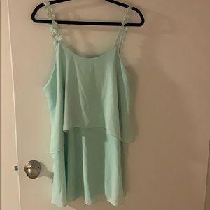 Lulu's Mint Flower Strap Dress